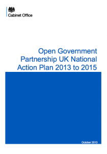Open Government Partnership: UK National Action Plan 2013 to 2015