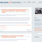 Fostering a Critical Development Perspective on Open Government Data – Brasilia Workshop Report